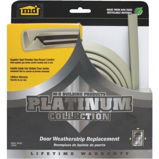 "M-D 84"" Beige Door Jambs Weatherstrip Replacement"