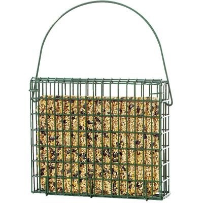 C&S EZ Fill Green 2-Cake Wire Basket Suet Feeder