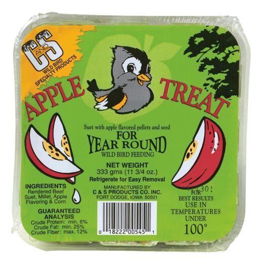 C&S 11.75 Oz. Apple Treat Suet
